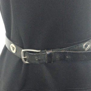 Distressed Heart Leather Belt 31 inches long